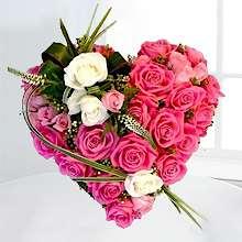 Corazón funerario flores