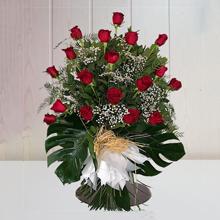 Ramo Funerario 18 Rosas Rojas tanatorios Barcelona